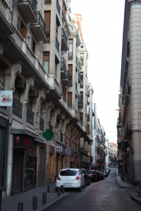 Street in front of Hotel Lusso Infantas